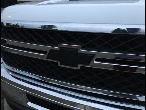 vinyl wrap chevy bowtie on Silverado