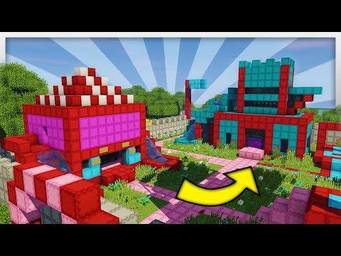 ✔️ Huge BOUNCY CASTLE KINGDOM in Minecraft!