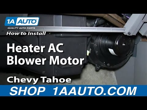 How To Install Replace Heater AC Blower Motor 1996-99 Chevy Tahoe and 2000 Z71