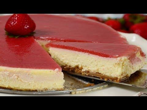 Strawberry Cheesecake Recipe Demonstration - Joyofbaking.com