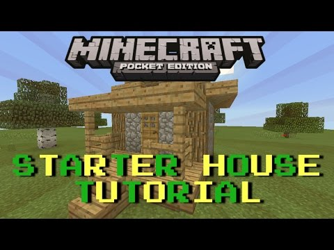 How to build a Starter House in MCPE (Easy and quick) : MCPE Let's Build