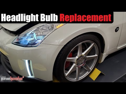 Nissan 350Z Headlight bulb replacement factory HID (2006-2009)