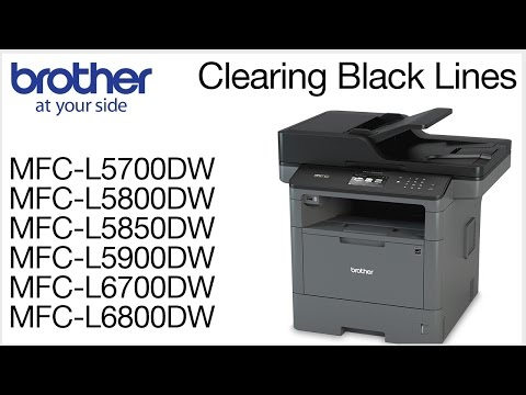 Clearing black vertical lines on copies or scans - MCFL5800DW or MFCL6700DW