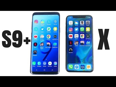 Galaxy S9 Plus vs iPhone X Speed Test!