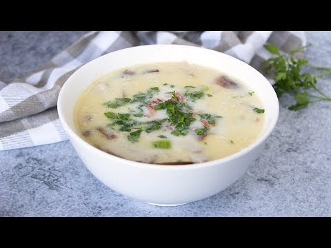 Cream of Chicken Soup with Bacon