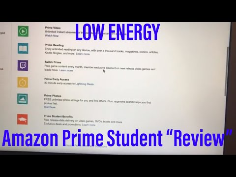 """I joined Amazon Prime Student so you wouldn't have to AND did a low energy """"review"""""""
