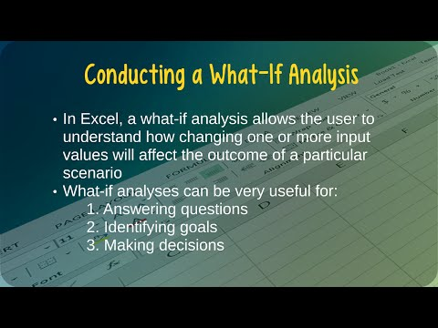 How to Conduct a What If Analysis in Microsoft Excel
