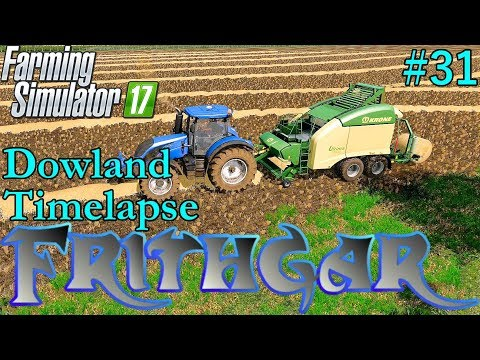 FS17 Timelapse, Dowland Farm Seasons #31: On With The Harvest