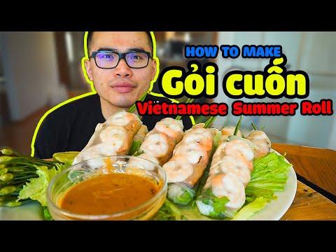 How to make Vietnamese Gỏi Cuốn (Vietnamese Summer Rolls w/ Peanut Sauce)