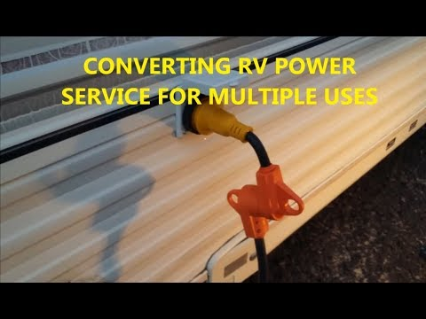 RV Power Cable multi use adapter for RV campers generators, twist lock electrical