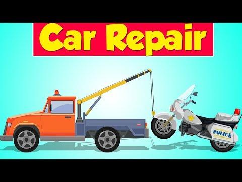 Tow Truck Garage | Police Bike | Police Vehicle | Car Repair