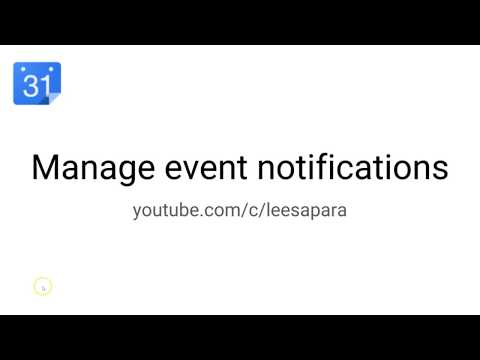 How to change or Turn Off Google Calendar Event Notifications