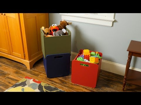 How to Build Stackable Storage Totes - Saturday Morning Workshop