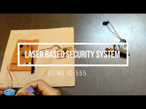 home security system in 1$ | laser security system using ic 555 (PART-1)