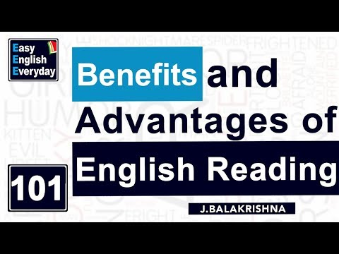 Benefits of Reading English |Spoken English conversation videos |grammar lessons | J Bala Krishna