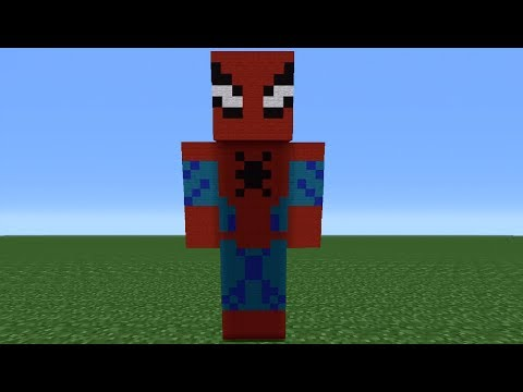 Minecraft Tutorial: How To Make A Spiderman Statue