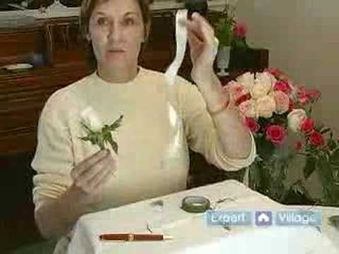 How to Make Flower Arrangements for Weddings : How to Make a Single Rose Corsage: Tips for Making Wedding Floral Arrangements