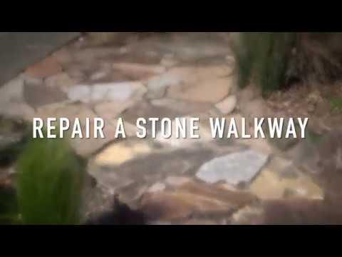 Repairing a Stone Walkway