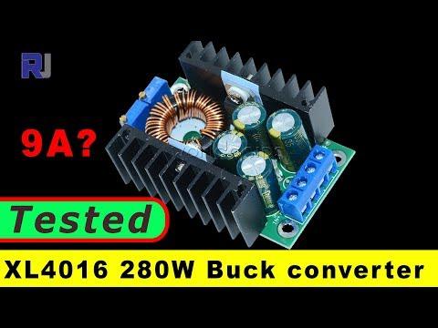 DC CC 9A 280W Step Down Buck Converter 7-40V To 1.2-35V XL4016 Module (tested under 12V)