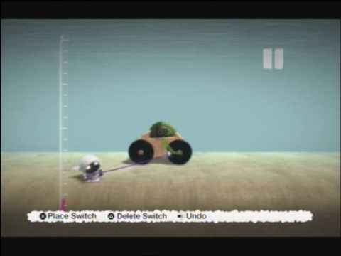 How to make a car in little big planet for Beginers