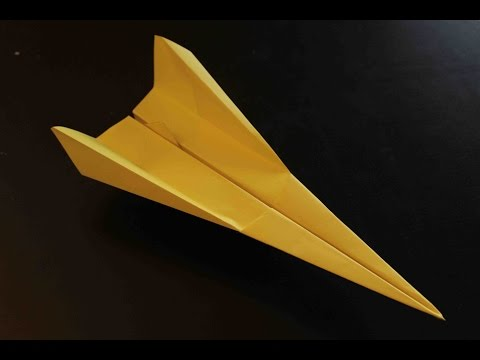 How to make a cool paper plane origami: instruction| Yellowish