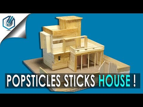 How to Make Popsicle Stick House EASY