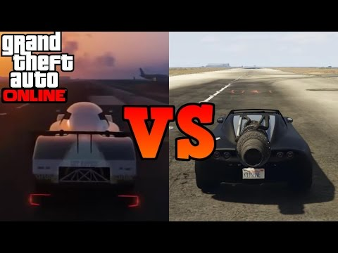 GTA online - Rocket Voltic VS Glitched Annis RE-7B Drag race WHICH WILL WIN?!?