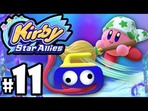Kirby Star Allies - 2 Player Co-Op! - Switch Gameplay Walkthrough PART 11: Gooey Goofs & Rick Laser
