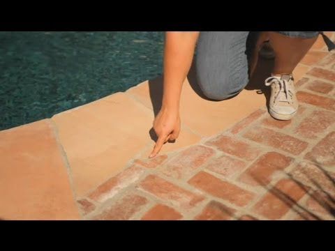 How to Replace Grout Around Brick Coping on Swimming Pools : Pool Care