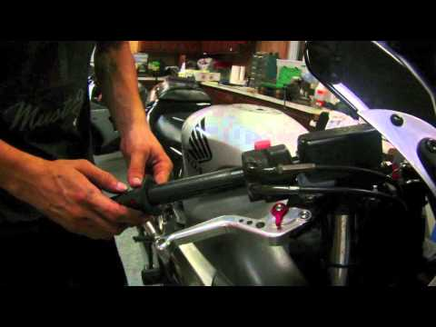 How to install Hand Grips on a Motorcycle