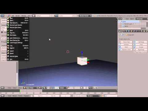 Blender Tutorial - Breaking Objects Apart with Cell Fracturing