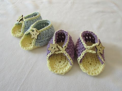 VERY EASY crochet baby summer sandals / shoes tutorial