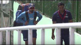 Paytm #INDvAUS – Virat Kohli wielded the willow in the practice session, but will he play tomorrow?