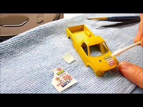 How-to custom puller truck ( water slide decals & front axle ) part 5