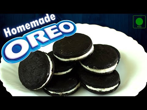 Homemade OREO Cookie | DIY Eggless Oreo Biscuits from scratch| How to make Easy Oreo Cookies at home
