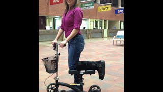 Knee Walker | Drive Medical 796 Dual Pad Steerable with Basket Review