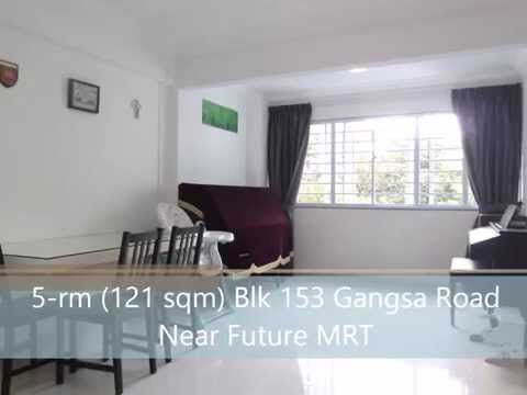 SALE / RENT : 5-Room HDB (121 sqm) Blk 153 Gangsa Rd, #06 (Corner)