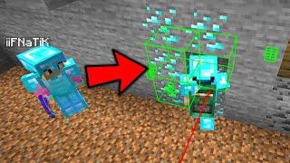 Trolling my new minecraft friend using automine...