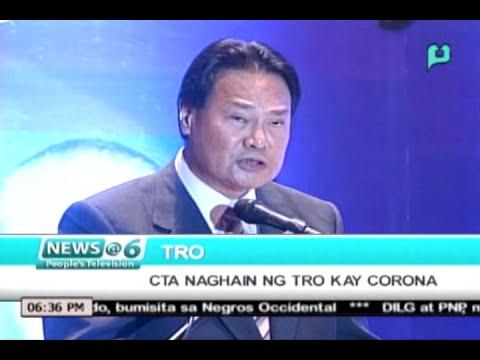 News@6: Court of Tax Appeals, naghain ng TRO kay Corona || Oct. 7, 2015