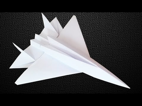 How to make an F15 Eagle Jet Fighter Paper Plane - Crazy Max