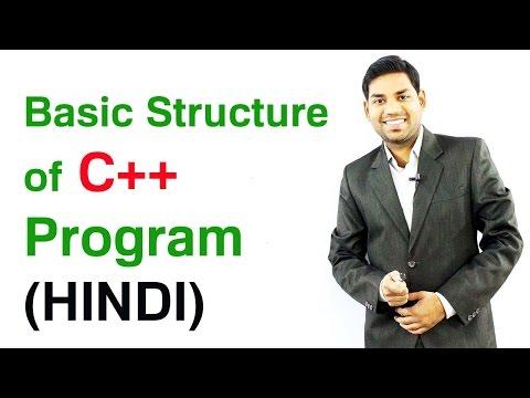 Basic Structure of C++ Program (HINDI)