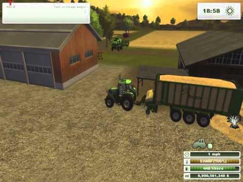 Farming Simulator 2013 Selling a load of straw