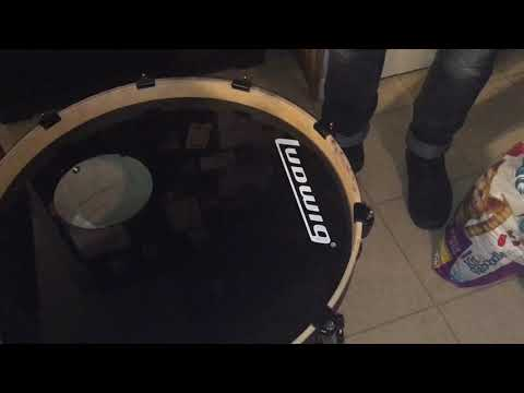 How to remove decal on kick drum head