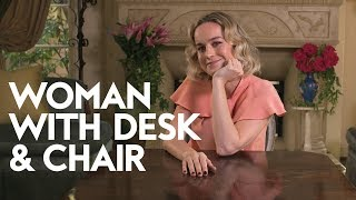 Download Brie Larson | Woman with Desk and Chair | InStyle Video