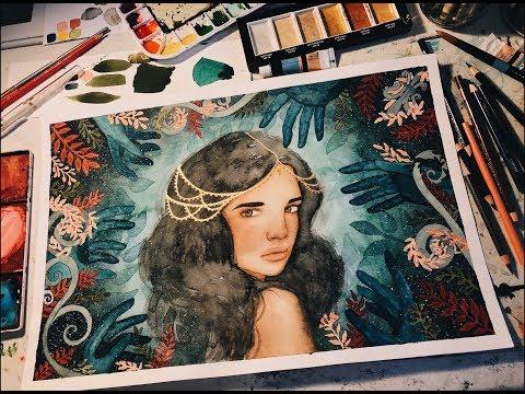 DROWNING SHADOWS //watercolor painting process
