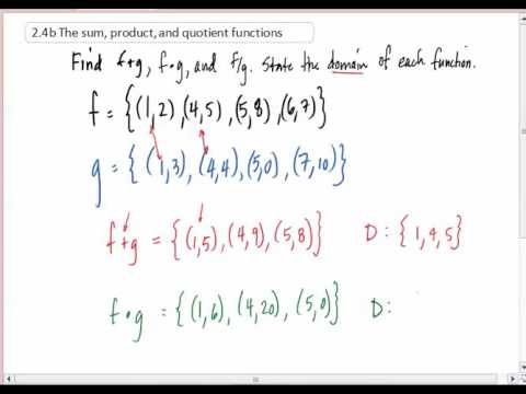 2 4b The sum, product, and quotient functions