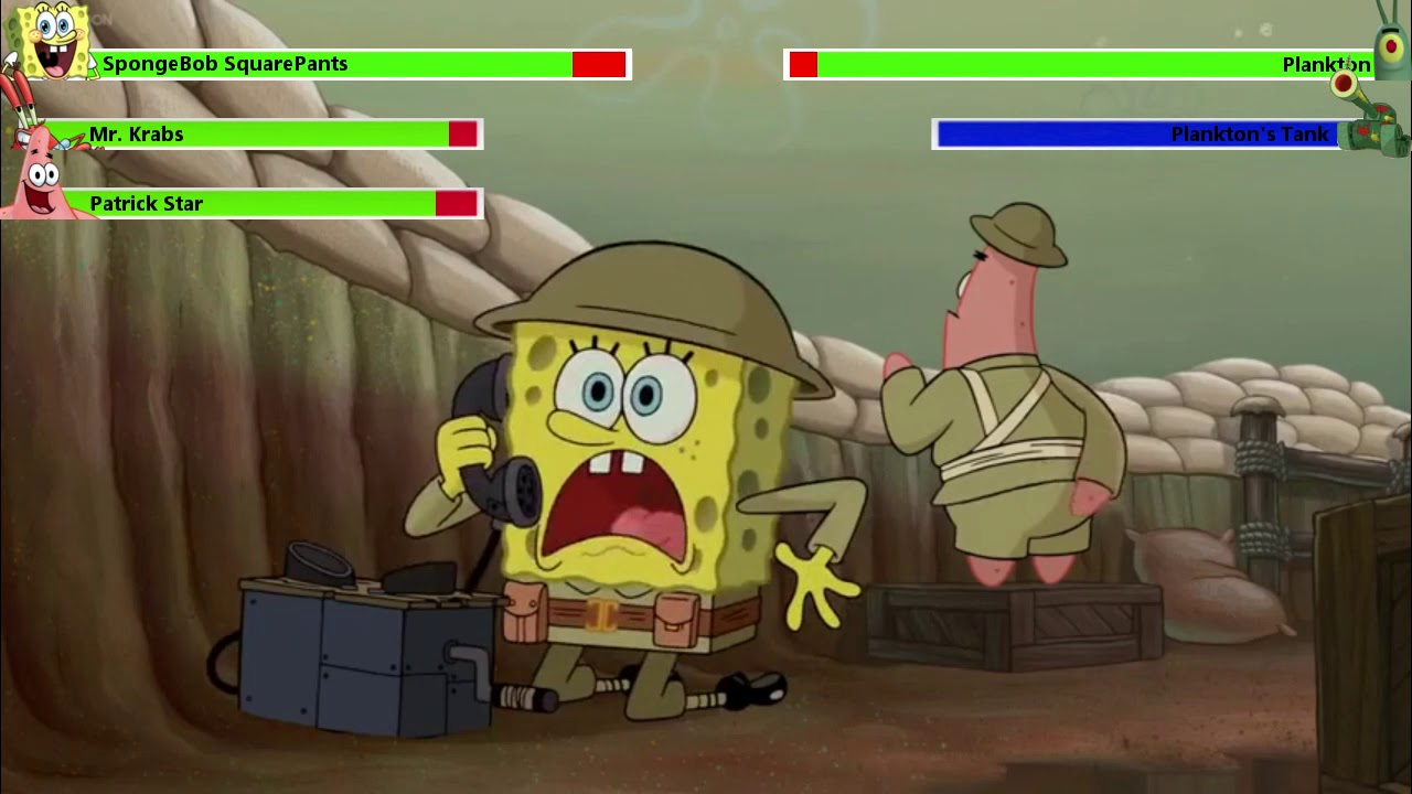 The SpongeBob Movie: Sponge Out of Water (2015) Food Fight with healthbars