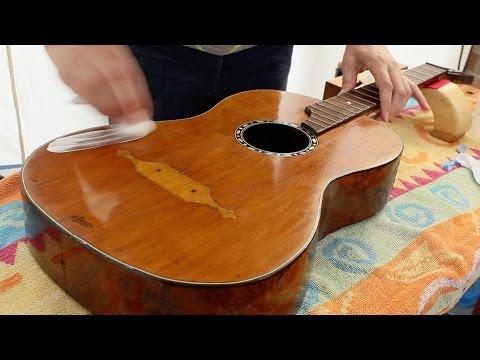 Restoring an antique parlour guitar part 39: G3 Professional Paint Renovator