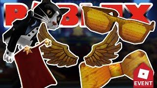 Como Conseguir La Pajarita Diy Cardboard Del Evento Bloxys - how to get diy golden bloxy wings roblox bloxy event ended
