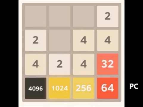 Beating 2048: 8192 tile part 3 of 4 - from 4096 to 4096 & 2048 tiles